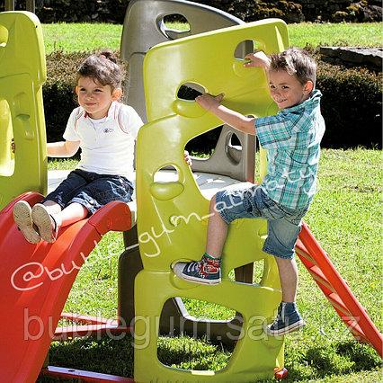 Игровой спортивный комплекс для дачи, детской и спортивной площадки Smoby Детская площадка БАШНЯ С ГОРКОЙ