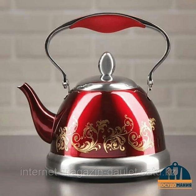 Заварочный чайник Fissman 1,5 л, Красный