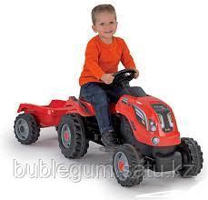 Детский педальный трактор Smoby Farmer XL 710108 с прицепом - фото 7