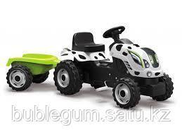 Детский педальный трактор Smoby Farmer XL 710108 с прицепом - фото 8