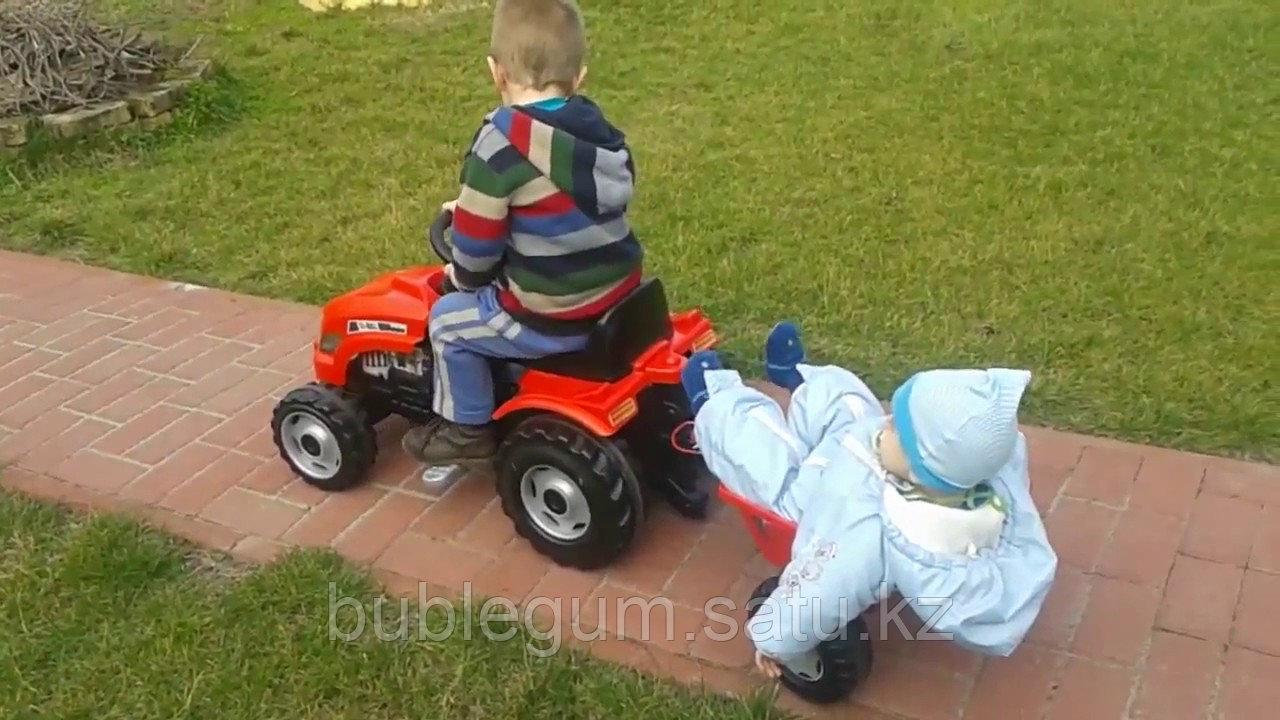 Детский педальный трактор Smoby Farmer XL 710108 с прицепом - фото 2