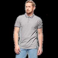 Рубашка поло с контрастной планкой, StanAbsolute, 05, Серый меланж (50), S/46, фото 1