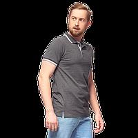 Рубашка поло с контрастной планкой, StanAbsolute, 05, Тёмный меланж (60/1), M/48, фото 1