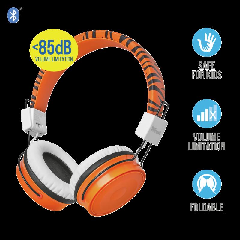Наушники Trust Comi Bluetooth оранжевый