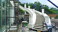 Изготовление и монтаж натурального мрамора на фасад