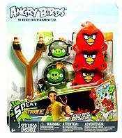 """Игра детская """"Сердитые Птички"""", на меткость, подвесная мишень, рогатка и 3 липучки-бросалки"""