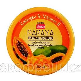 Фруктовый скраб для лица Папайя Banna facial scrub Papaya 100 gr.