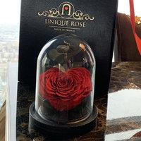 Микро роза в колбе бутон сердце