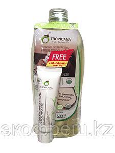 Кокосовое масло Tropicana Oil холодного отжима 500 мл