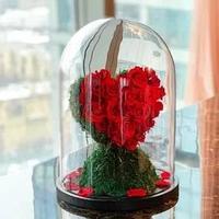 Композиция из стабилизированных роз Сердце