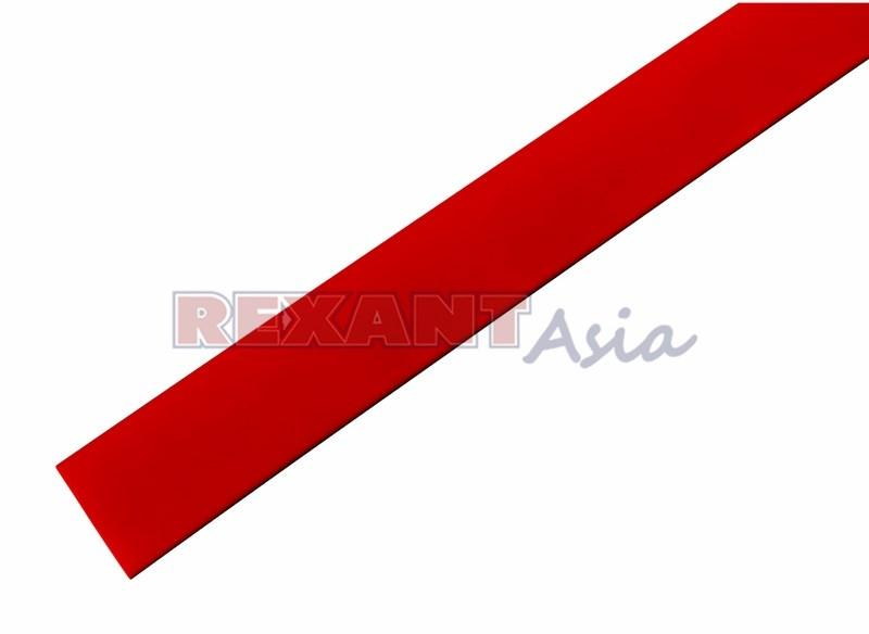 Термоусадка 19.0/9.5 мм, (2:1), 1м., красная, с подавлением горения, (уп 10 шт.)  REXANT (21-9004)