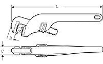 """Ключи трубные концевые 1.1/2"""" / 49mm SUPER-EGO 102, фото 2"""