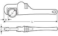 """Алюминиевый трубный ключ 1.1/2"""" / 49mm SUPER-EGO 102, фото 2"""