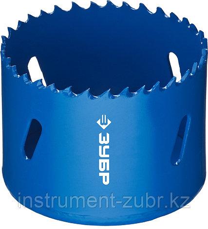 Коронка биметаллическая, быстрорежущая сталь, глубина сверления до 38мм, d-60мм, ЗУБР, фото 2