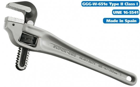 """Коленчатый алюминиевый трубный ключ 2"""" / 61mm HEAVY DUTY SUPER-EGO 105"""