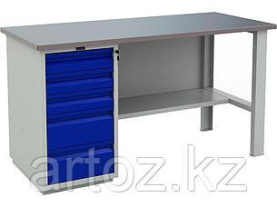 Металлический верстак PROFI (№601) 880x1600x700, фото 2