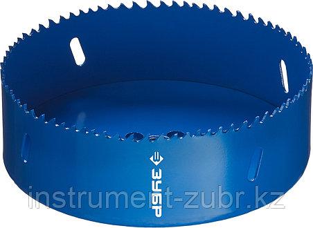 Коронка биметаллическая, быстрорежущая сталь, глубина сверления до 38мм, d-133мм, ЗУБР, фото 2