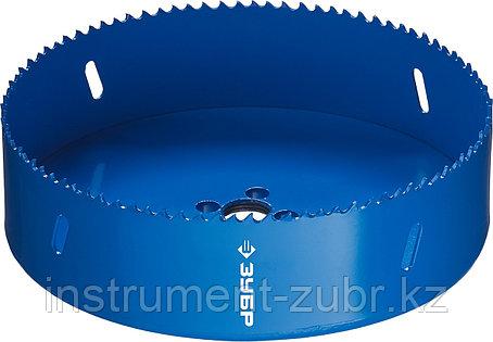 Коронка биметаллическая, быстрорежущая сталь, глубина сверления до 38мм, d-152мм, ЗУБР, фото 2