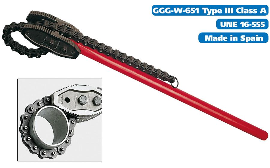 """Двухсторонний цепной ключ 1.1/2"""" / 49mm HEAVY DUTY SUPER-EGO"""