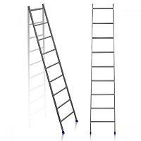 Приставная лестница 9 ступеней металлическая, Ника Л9