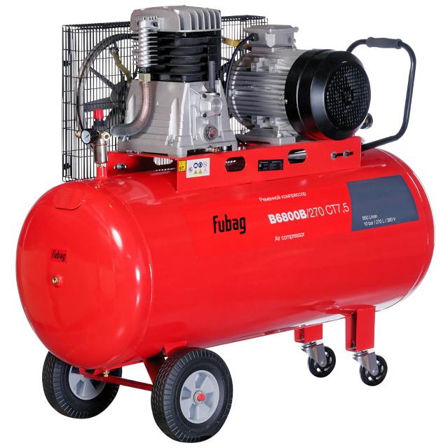 Компрессор ременной поршневой B6800B/270 CT7.5 850 л/мин 270 л 10 бар 5,5 кВт