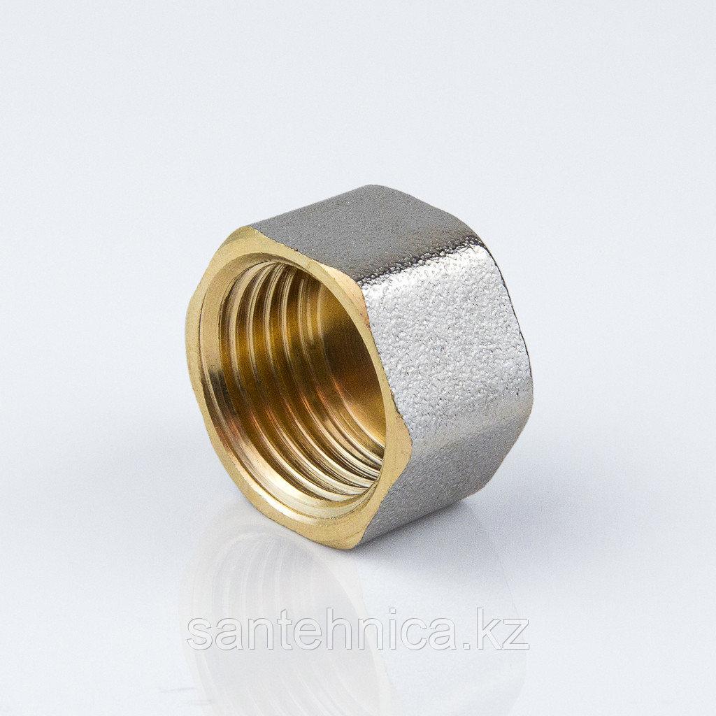 """Заглушка с внутренней резьбой латунь никель Ду 15 G1/2"""""""
