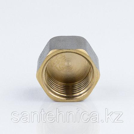 """Заглушка с внутренней резьбой латунь никель Ду 15 G1/2"""", фото 2"""