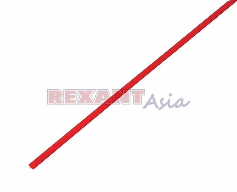 Термоусадка 3.0/1.5 мм, (2:1), 1м., красная, с подавлением горения, (уп 50 шт.)  REXANT (20-3004)