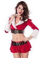 Новогодний костюм Санты (юбка, топ + манжеты на ноги), фото 1