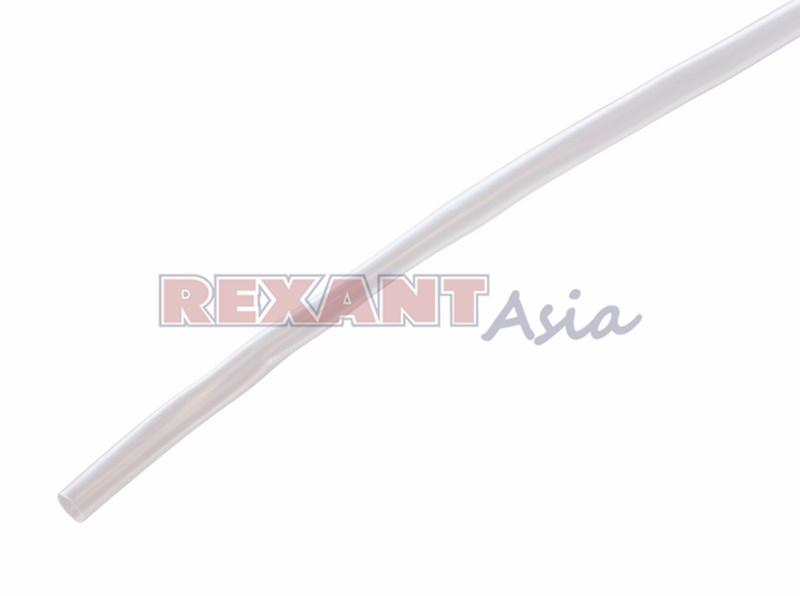 Термоусадочная трубка Н-1, 5,0/2,5 мм, (2:1), 1м., прозрачная (уп 50 шт.)  REXANT (20-5009)