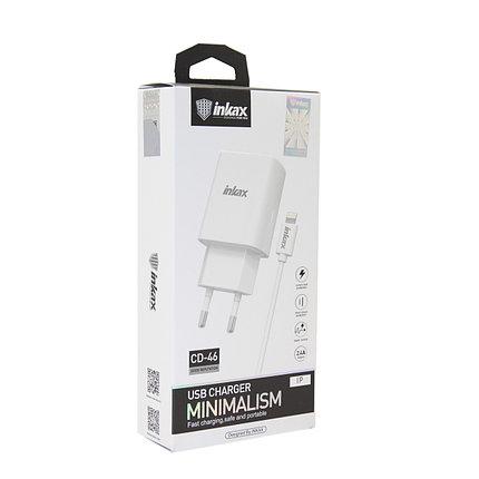 Зарядное устройство INKAX CD-46 Lightning USB 2.4A, фото 2