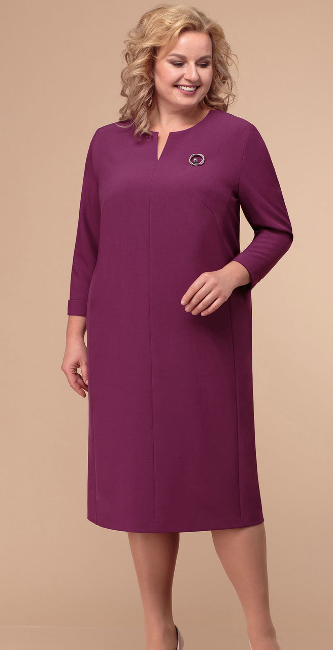 Платье Линия-Л-Б-1761, фуксия, 60
