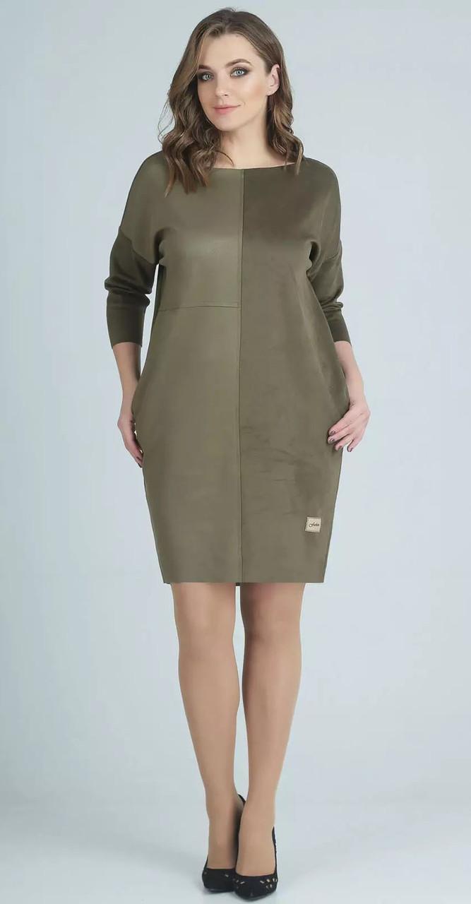 Платье Swallow-131, хаки, 48