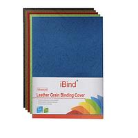 Обложка картон кожа iBind А4/100/230г  светло синяя (light blue) (LG-02)