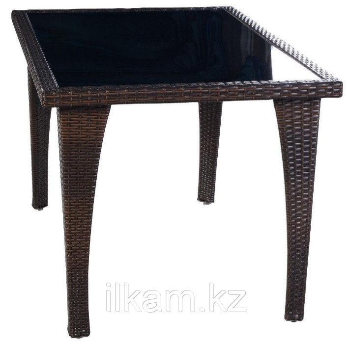 Стол из искусственного ротанга квадратный - фото 1