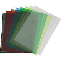 Обложки ПВХ А4, 0,18мм, кристалл, прозр/оранжевые (100)