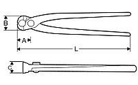 Кусачки для арматуры без пластиковых накладок на рукоятки L 255mm SUPER-EGO 507, фото 2