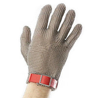 Перчатка кольчужная пятипалая с пластиковым манжетом. Размер S