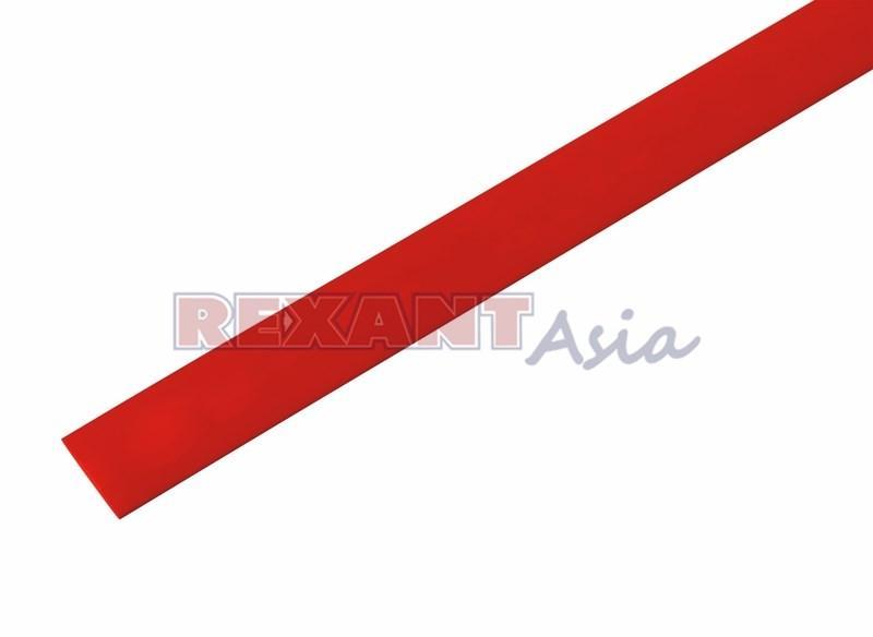 Термоусадочная трубка 3,0 /1,5 мм, (2:1), красная (бухта 200 м)  REXANT (49-0304)