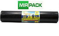 Мусорный пакет 200 л, 10 шт/рул «Добрыня», ПВД, 100 мкм, размер 80*120 см, черные