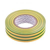 Изолента ПВХ, 19 мм х 20 м, желто-зеленая, 150мкм// Matrix
