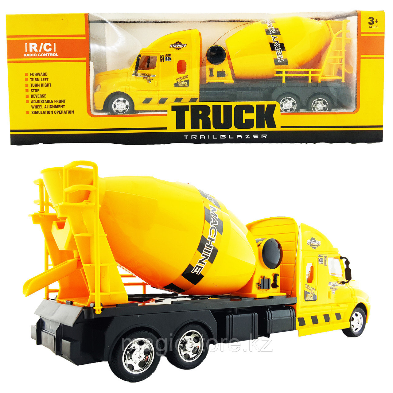 Truck Trailblazer R/C Trough Tipper Спецтехника Радиоуправляемая Бетономешалка, звук и свет - фото 3