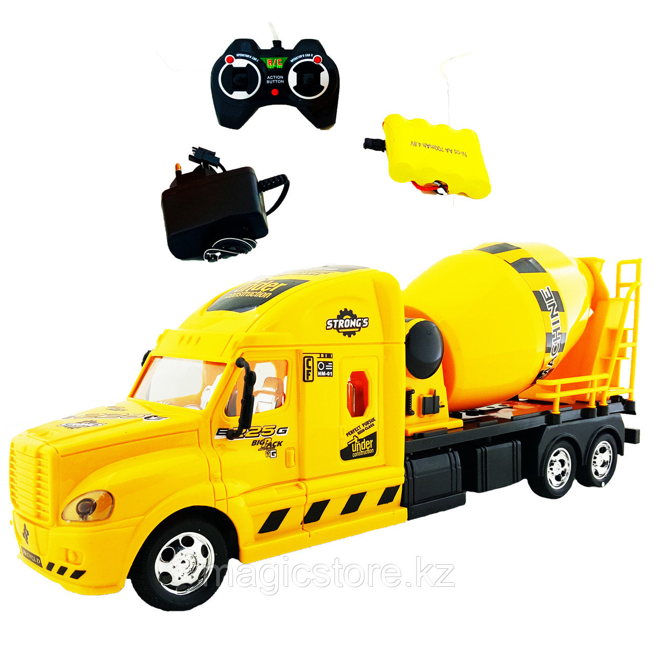 Truck Trailblazer R/C Trough Tipper Спецтехника Радиоуправляемая Бетономешалка, звук и свет - фото 1