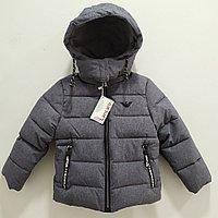 Куртка демисезонная для мальчиков от 3 до 10 лет, серая., фото 1