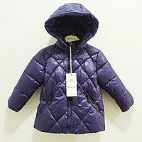 """Куртка осенняя """"Moncler"""" для девочек и мальчиковот 1 до 5лет, синяя., фото 1"""