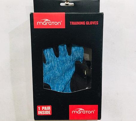 Перчатки для фитнеса, атлетические Maraton Размер S (цвет голубой), фото 2