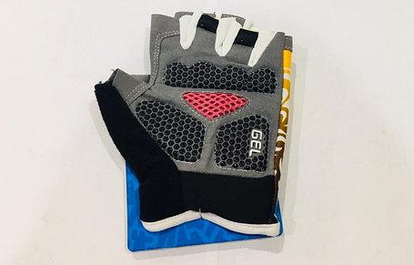Перчатки для фитнеса, атлетические Tianju Sport Размер M (цвет желтый, розовая вставка), фото 2