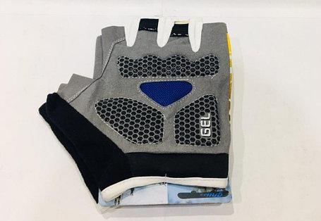 Перчатки для фитнеса, атлетические Tianju Sport Размер M (цвет желтый, синие вставки), фото 2