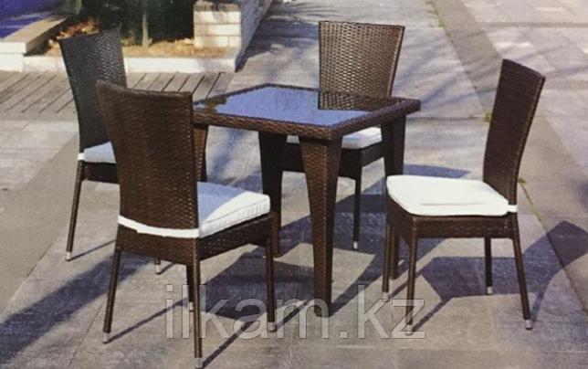 Стол из искусственного ротанга квадратный - фото 2