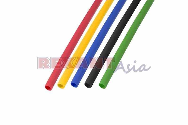 Набор термоусадочной трубки  3,5 / 1,75 мм 1м Пять цветов REXANT